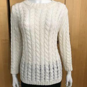 Joe Fresh white acrylic sweater size S